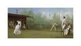 Edwardian Tennis Scene Premium Giclee Print