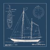 The Vintage Collection - Nautical Blueprint II Digitálně vytištěná reprodukce