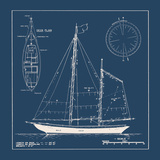 Nautical Blueprint II Giclee Print