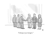 """I always cry at mergers."" - New Yorker Cartoon Premium Giclee Print by Paul Noth"