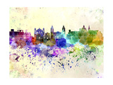 Valletta Skyline in Watercolor Background Posters by  paulrommer