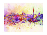 Taipei Skyline in Watercolor Background Posters by  paulrommer