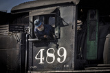 Train Conductor II Photographic Print by Kathy Mahan