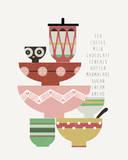Teatime I Giclee Print by Laure Girardin-Vissian