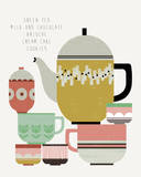 Teatime II Giclee Print by Laure Girardin-Vissian