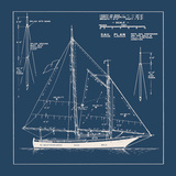 Nautical Blueprint I Wydruk giclee autor The Vintage Collection