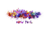 New York Skyline in Watercolor Prints by  paulrommer