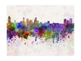 Baltimore Skyline in Watercolor Background Posters by  paulrommer