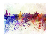 Chicago Skyline in Watercolor Background Posters by  paulrommer