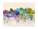 Denver Skyline in Watercolor Background Print by  paulrommer