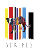 Leopard Stripes Giclee Print by Laure Girardin-Vissian