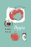 Apple Study Posters by Laure Girardin Vissian