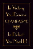 Champagne Victory Giclee-trykk