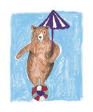 Bear Balance Prints by Katrien Soeffers