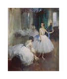 The Dancing Lesson Premium Giclee Print by W. E. Webster