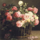 Basket of Roses (detail) Giclee Print by Hans Looscher