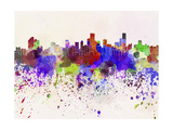 Bogota Skyline in Watercolor Background Prints by  paulrommer