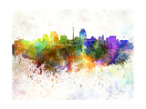 San Antonio Skyline in Watercolor Background Prints by  paulrommer