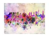paulrommer - Tokyo Skyline in Watercolor Background Plakát