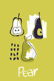 Pear Study Posters by Laure Girardin Vissian