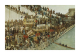 Hammersmith Bridge on Boat Race Day, 1862 Premium Giclee Print by Walter Greaves