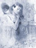 Cafe Bleu I Poster by Sharon Pinsker