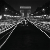Street Scene at Night, 1950 Reproduction procédé giclée par Paul Almasy