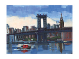 City Bridges II Photographic Print by PM Shore