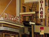 Diner Giclee Print by Andy Burgess