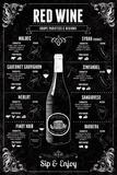 Tom Frazier - Red Wine Guide Digitálně vytištěná reprodukce