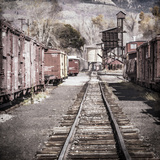 Vintage Train Yard III Photographic Print by Kathy Mahan