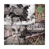 Historic Train Collage II Photographic Print by Kathy Mahan