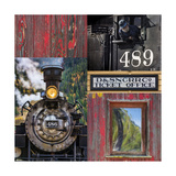 Historic Train Collage IV Photographic Print by Kathy Mahan
