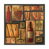 Type Set Wine Sq I Photographic Print by Gregory Gorham