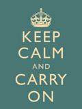 Keep Calm and Carry On Motivational Slate Art Print Poster Plakát