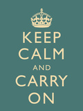 Keep Calm and Carry On Motivational Slate Art Print Poster Posters
