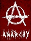 Anarchy Symbol Resistance Poster Print