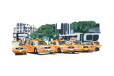 NYC Taxis I Photographic Print by PM Shore
