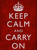Keep Calm and Carry On (Motivational, Red, Wrinkled) Art Poster Print Prints