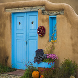 Blue Door I Photographic Print by Kathy Mahan