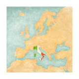 Map of Europe - Italy (Vintage Series) Prints by  Tindo