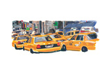 NYC Taxis II Photographic Print by PM Shore