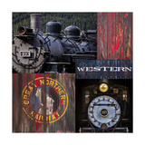Historic Train Collage III Photographic Print by Kathy Mahan