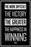 Pele Winning Quote Poster