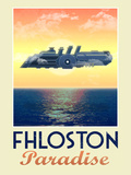 Fhloston Paradise Retro Travel Poster Photo