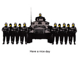 Have A Nice Day Cops Tank Graffiti Posters