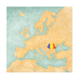 Map of Europe - Romania (Vintage Series) Posters by  Tindo