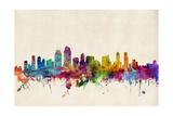 San Diego California Skyline Photographic Print by Michael Tompsett