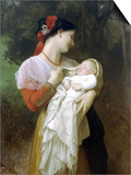 Maternal Admiration Prints by William Adolphe Bouguereau