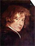 Youthful Self-Portrait Kunstdruck von Anthony Van Dyck